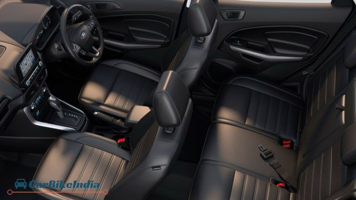 Ford EcoSport Facelift 2017 Interiors