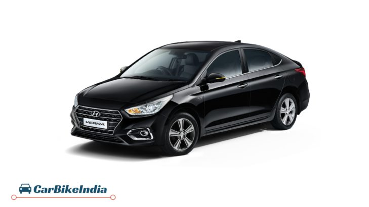 Hyundai Verna Comparison