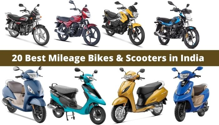 Best Mileage Bikes and Scooters in India in 2021