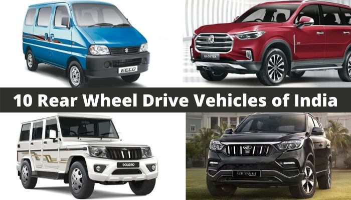 10 Best Rear Wheel Drive Cars of India
